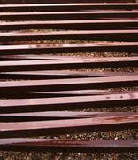 Wet Rusted Steel Iron Fencing Dripping Stock Photos