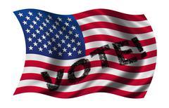 vote usa - stock illustration