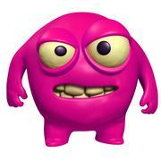 pink virus - stock illustration