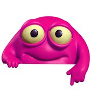 pink cute beast - stock illustration