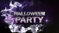 Stock Video Footage of HALLOWEEN PARTY Text in Particle Blue 1 - HD1080