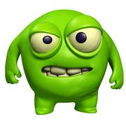 Halloween green monster Stock Illustration