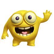 Yellow alien Stock Illustration