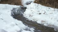 Snow and river Stock Footage