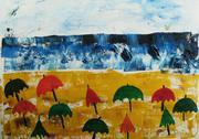 Painted beach Stock Illustration