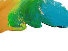 Painted colors Stock Photos
