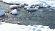 Snow river Stock Footage