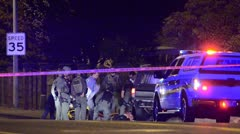 Police Standoff Stock Footage