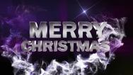 Stock Video Footage of MERRY CHRISTMAS Text in Particle Blue 1 - HD1080