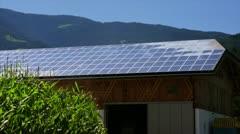 Farm with Solar Panel Stock Footage