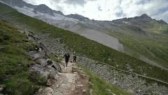 High Mountain Trekking Stock Footage