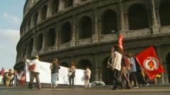 Carabinieri & Colosseum (3) Stock Footage
