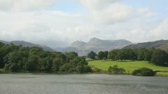 Loughrigg-tarn-lake-district Stock Footage
