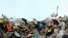 Garbage on cloudy day Stock Footage