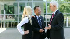 Business manager talking with his staff Stock Footage