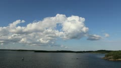 Stock Video Footage of Stockholm Archipelago cloud c2