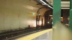 Boston Green Line Train Stock Footage