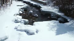 snow and river - stock footage
