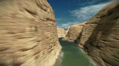 Flying between mountains Stock Footage
