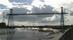 Transporter Bridge Stock Footage