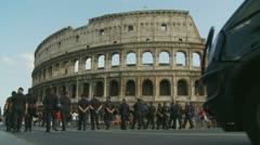 Carabinieri & Colosseum (1) Stock Footage