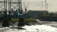 Transporter Bridge Gondola Stock Footage