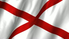 Alabama Waving Flag - stock footage