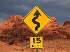 Red desert curves Stock Photos