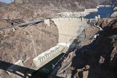 Hoover dam bridge view Stock Photos