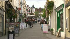 Chepstow Shops Stock Footage