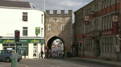 Castle Town Gate Stock Footage