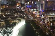 Stock Photo of las vegas blvd - near flamingo night