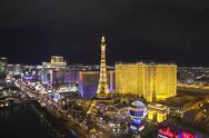 Stock Photo of paris vegas night