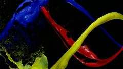 Paint splash, Slow Motion Stock Footage