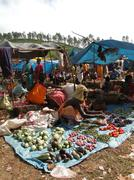 Villagers sell vegetables .. Stock Photos
