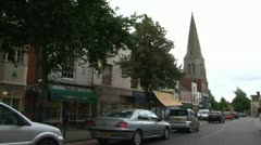 Market Harborough High Street Stock Footage