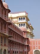 Stock Photo of pink walled inner buildings of  city palace of  jaipur
