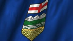 Alberta Waving Flag Stock Footage