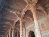 Columns and arches of mosque hall Stock Photos
