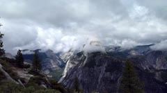 Half dome 2 clouds - stock footage