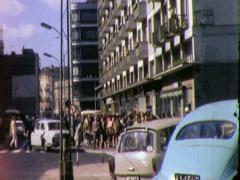 STREET SCENE WARSAW Poland 1970s Vintage Film Home Movie 4531 Stock Footage