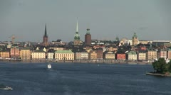 Sweden Stockholm old town city view s Stock Footage