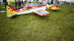 Russian championship in the sport aircraft modeling Stock Footage