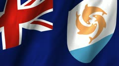 Anguilla Waving Flag Stock Footage
