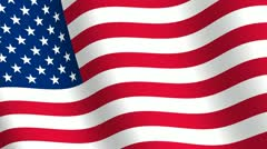 Waving flag of  United States of America Stock Footage