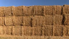 Stack of hay bales in a Shropshire field, England Stock Footage
