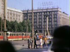 Historic Center Downtown WARSAW POLAND 1970s Vintage Film Home Movie 4538 Stock Footage