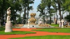 renovated Summer garden park in St. Petersburg Russia - stock footage