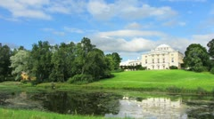 Palace in Pavlovsk park St. Petersburg Russia - timelapse Stock Footage