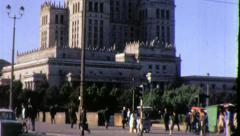 Palace of Culture and Science WARSAW POLAND 1970s Vintage Film Home Movie 4541 Stock Footage